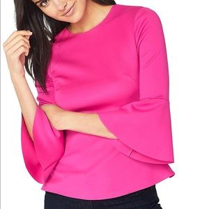 Ted Baker 3/4 Bell Sleeve Blouse Size 2